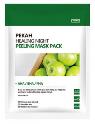 Тканевая маска с AHA-BHA-PHA кислотами PEKAH Healing Night Peeling Mask Pack 25мл*5шт