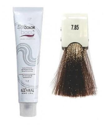 Крем-краситель полуперманентный безаммиачный Kaaral Baco Soft Color 7.85 коричнево-махагоновый блондин 60 мл