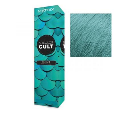 Крем-краска для волос с пигментами прямого действия Matrix Socolor Cult ПЫЛЬНЫЙ БИРЮЗОВЫЙ, 85мл: фото