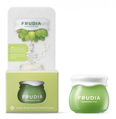 Крем-сорбет себорегулирующий с виноградом Frudia Green Grape Pore Control Cream, мини-версия 10 г: фото