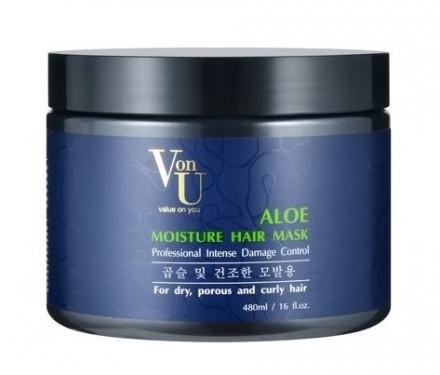 Маска для волос с алоэ вера увлажняющая Von U Aloe Moisture Hair Mask 480 мл: фото
