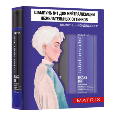 Набор Весенний MATRIX Total results Brass Off: Шампунь 300 мл + Кондиционер 300 мл: фото