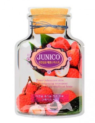Маска тканевая c экстрактом личи Junico Lychee Essence Mask 25г MIJIN