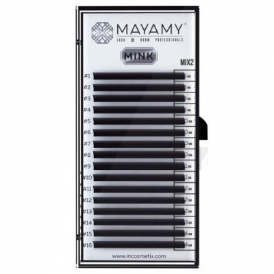 Ресницы MAYAMY MINK 16 линий D 0,12 MIX 2: фото
