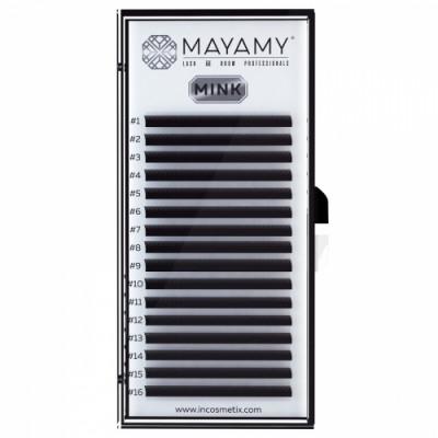Ресницы MAYAMY MINK 16 линий С 0,07 10 мм: фото