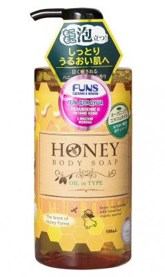 Гель для душа с экстрактом меда и маслом жожоба FUNS Honey Oil 500 мл: фото