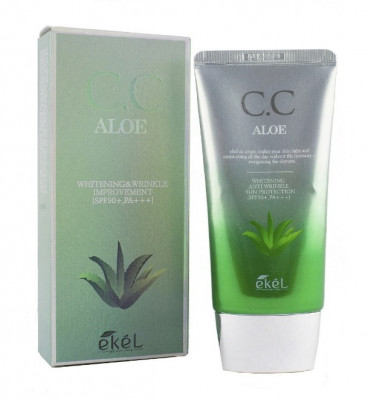СС-крем с экстрактом алоэ Ekel CC Cream Aloe 50мл: фото