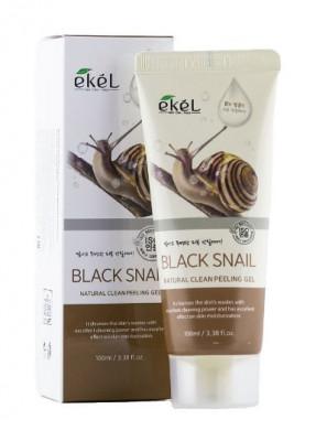 Пилинг для лица с экстрактом улиточного муцина Ekel Peeling Gel Black Snail 100 мл: фото