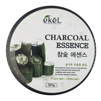 Гель успокаивающий с экстрактом древесного угля Ekel Soothing Gel Charcoal 300 г: фото