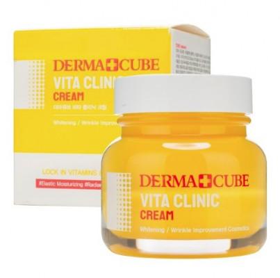 Крем для молодости и сияния кожи FarmStay DERMA+CUBE VITA CLINIC CREAM 60мл: фото