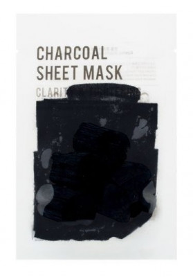 Тканевая маска с древесным углем EUNYUL PURITY CHARCOAL SHEET MASK 22мл: фото