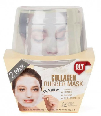 Альгинатная маска с коллагеном (пудра+активатор) Lindsay Collagen Rubber Mask (65г+6,5г)*2: фото
