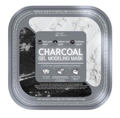 Альгинатная маска с древесным углем (пудра+гель) Lindsay Charcoal Gel Modeling Mask 50г+5г: фото
