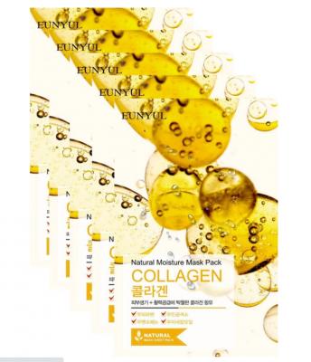 Набор тканевых масок с коллагеном EUNYUL Natural Moisture Mask Pack Collagen 22мл*5шт: фото