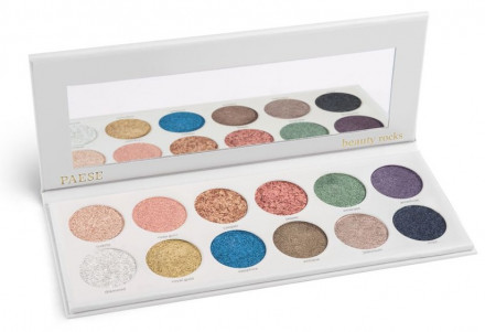 Палетка теней PAESE BEAUTY ROCKS EYESHADOWS PALETTE 12 цветов: фото
