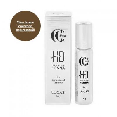 Хна для бровей CC Brow Premium henna HD Olive brown 5 г: фото