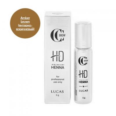 Хна для бровей CC Brow Premium henna HD Amber brown 5 г: фото