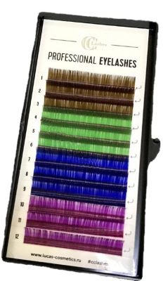 Ресницы CC Lashes D 0.07 / 12 color mix: фото