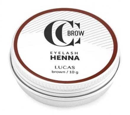 Хна для окрашивания ресниц и бровей CC Brow Eyelashes&Brow в баночке (коричневая), 10г: фото