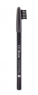 Контурный карандаш для бровей СС Brow brow pencil 01grey black: фото