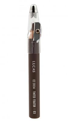 Восковый карандаш для бровей CC Brow TINTED WAX FIXATOR 03 коричневый: фото