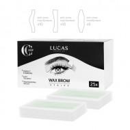 Набор восковых полосок для коррекции бровей CC Brow WAX BROW STRIPS 25 шт: фото