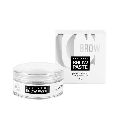 Паста для бровей серебряная CC Brow Silver Brow Paste 15 г: фото