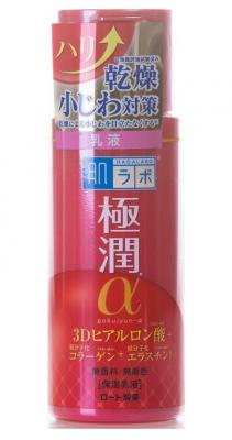 Молочко для лица с гиалуроновой кислотой с эффектом лифтинга HADALABO Gokujyun Alpha Milk 140 мл: фото