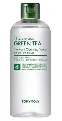 Мицеллярная вода для снятия макияжа с экстрактом зеленого чая TONY MOLY THE CHOK CHOK GREEN TEA No-wash Cleansing Water 500мл: фото