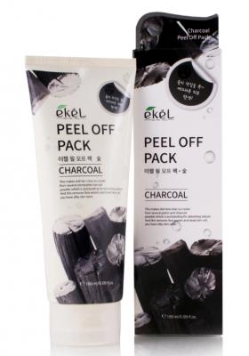 Маска-пленка с экстрактом древесного угля EKEL Peel off pack Charcoal 180мл: фото