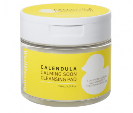 Очищающие пэды с календулой WELLDERMA Calendula Calming Soon Cleansing Pad 60 шт: фото