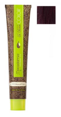 Краска для волос Macadamia Oil Cream Color 5.2 СВЕТЛЫЙ РАДУЖНЫЙ КАШТАНОВЫЙ 100мл: фото