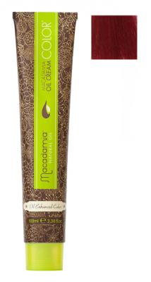 Краска для волос Macadamia Oil Cream Color 5.666 ЭКСТРА-ЯРКИЙ КРАСНЫЙ СВЕТЛО КАШТАНОВЫЙ 100мл: фото