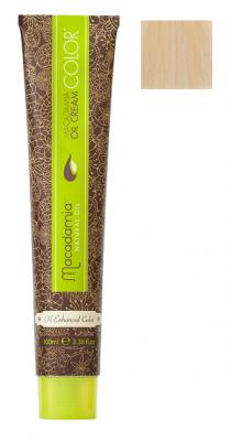Краска для волос Macadamia Oil Cream Color 10.03 ПЛАТИНОВЫЙ ТЕПЛЫЙ БЛОНДИН 100мл: фото