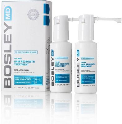 Усилитель роста волос для мужчин (Миноксидил 5%) спрей Bosley For man Hair Regrowth Spray 5% 60мл*2