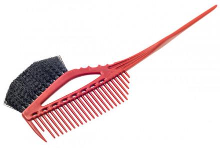 Кисточка для окрашивания с расчёской Y.S.Park YS-640 красная