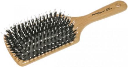 Щётка деревянная большая с комбинированной щетиной HERCULES (11 рядов): фото