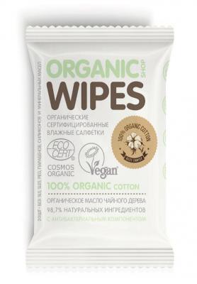Салфетки влажные, с антибактериальным компонентом Organic Shop 20шт: фото